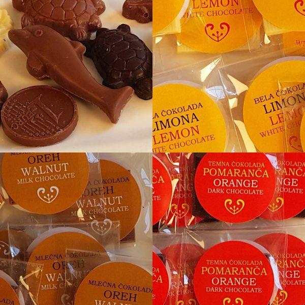 Male čokolade in figure